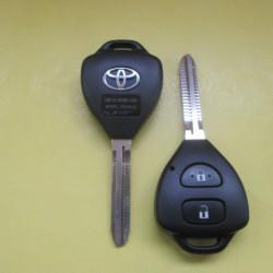 Корпус ключа TOYOTA треугольник 2-кнопки лезвие TOY43