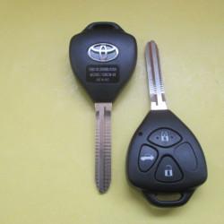 Корпус ключа Toyota, треугольник  3 кнопки лезвие TOY 43