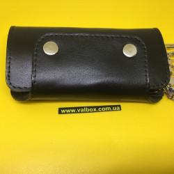 Ключница на 6 карабинов натуральная кожа 11.5х6.5 см