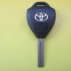 Корпус ключа TOYOTA треугольник 3-кнопки лезвие TOY48