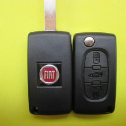Корпус ключа Fiat 3 кнопки лезвие HU83