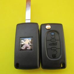 Корпус ключа Peugeot 3 kn лезвие VA2