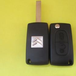Корпус выкидного ключа Citroen 2 kn лезвие HU83