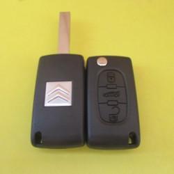 Корпус выкидного ключа Citroen 3 kn лезвие HU83