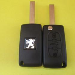 Корпус выкидного ключа Peugeot 3 kn лезвие HU83