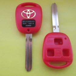Корпус ключа Toyota 3 кнопки лезвие TOY 43 цвет красный