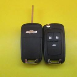 CHEVROLET CRUZE Выкидной корпус ключа 3 кнопки, лезвие HU100