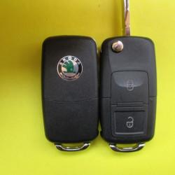 Корпус ключа Skoda выкидной 2 кнопки