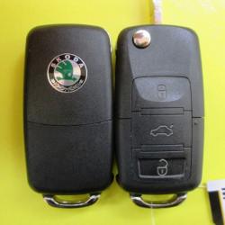 Корпус ключа Skoda выкидной 3 кнопки