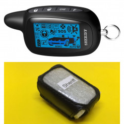 SHERIFF ZX-757/ZX-1077 Кожаный чехол для брелока автосигнализации