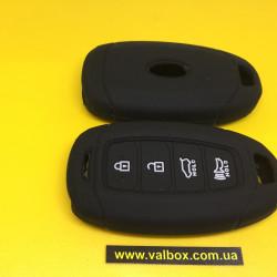 HYUNDAI чехол силиконовый для смарт ключа 4-кнопки Hyundai Santa fe/Elantra И тд.