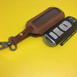 MAZDA 2, 3, 5, 6, CX-7 Кожаный чехол для смарт ключа ручной работы