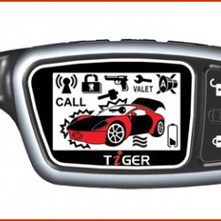 TIGER ES-555 Кожаный чехол для брелока автосигнализации