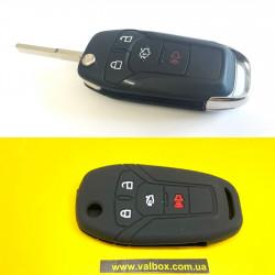Ford Fusion/f-150 чехол силиконовый для выкидного  ключа 4-кнопки