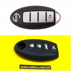 NISSAN чехол для ключа силиконовый 4-кнопки