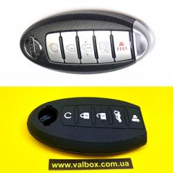 NISSAN чехол для ключа силиконовый 5-кнопок