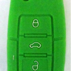 Чехол силиконовый SKODA (зеленый)