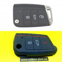 Volkswagen Passat/Jetta/golf силиконовый чехол для ключа 3-кнопки