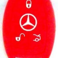 Чехол силиконовый MERCEDES-BENZ (красный)