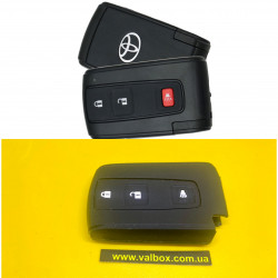 Toyota-чехол силиконовый 2+1 кнопки