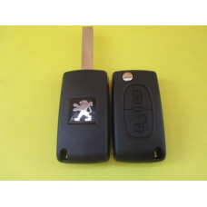 Корпус выкидного ключа Peugeot 2 kn лезвие HU83