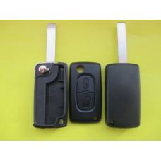 Корпус выкидного ключа Peugeot 2 kn лезвие HU83,без логотипа