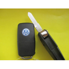 Корпус ключа Volkswagen выкидной ключ 2 кнопки лезвие HU49