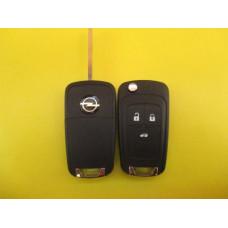 Корпус ключа, Выкидной 3 кнопки,Vauxhall,Opel Astra insignia HU100