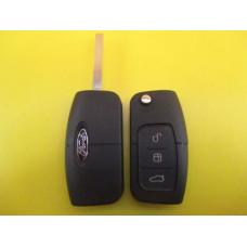 FORD Корпус выкидного ключа, лезвие HU101 3 кнопки